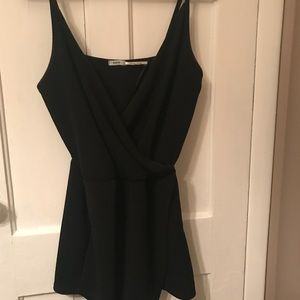 Urban Outfitters Black V-Neck Wrap Romper